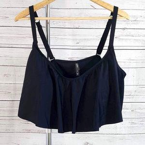 Torrid black ruffle adj convert bikini swim top